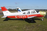 G-CEGS @ EGBO - Part of a busy aviation scene at Wolverhampton (Halfpenny Green) Airport on a crisp winters day