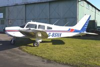 G-BSNX @ EGBO - Part of a busy aviation scene at Wolverhampton (Halfpenny Green) Airport on a crisp winters day