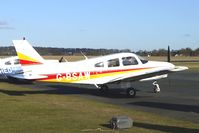 G-BSAW @ EGBO - Part of a busy aviation scene at Wolverhampton (Halfpenny Green) Airport on a crisp winters day