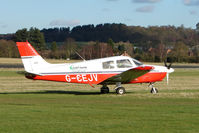 G-CEJV @ EGBO - Part of a busy aviation scene at Wolverhampton (Halfpenny Green) Airport on a crisp winters day - by Terry Fletcher