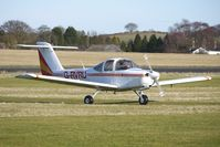 G-RVRU @ EGBO - Part of a busy aviation scene at Wolverhampton (Halfpenny Green) Airport on a crisp winters day