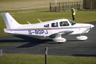 G-BGPJ @ EGBO - Part of a busy aviation scene at Wolverhampton (Halfpenny Green) Airport on a crisp winters day