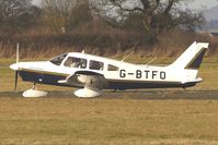 G-BTFO @ EGBO - Part of a busy aviation scene at Wolverhampton (Halfpenny Green) Airport on a crisp winters day