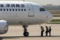 B-6568 @ ZGSZ - A320 - by Dawei Sun