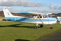G-BBJY @ EGBO - Part of a busy aviation scene at Wolverhampton (Halfpenny Green) Airport on a crisp winters day