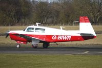 G-BIWR @ EGBO - Part of a busy aviation scene at Wolverhampton (Halfpenny Green) Airport on a crisp winters day