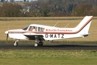 G-MATZ @ EGBO - Part of a busy aviation scene at Wolverhampton (Halfpenny Green) Airport on a crisp winters day