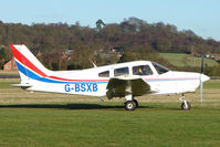 G-BSXB @ EGBO - Part of a busy aviation scene at Wolverhampton (Halfpenny Green) Airport on a crisp winters day
