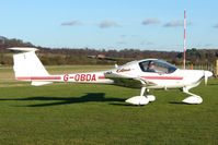 G-OBDA @ EGBO - Part of a busy aviation scene at Wolverhampton (Halfpenny Green) Airport on a crisp winters day