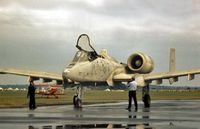 77-0232 @ CVT - A-10A Thunderbolt of the 81st Tactical Fighter Wing on display at the 1979 Coventry Airshow. - by Peter Nicholson