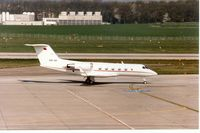 A9C-BB @ LSGG - Gulfstsream II of the Govt of Bahrain at Geneva in March 1994. - by Peter Nicholson