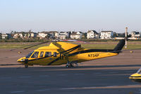 N734P @ GLS - PHI Helicopter at Galveston - by Zane Adams