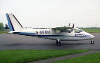 G-BFBU @ EGTC - Partenavia P-68B Victor at Cranfield Airport in 1996. - by Malcolm Clarke