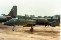 81-0955 @ EGVA - A-10A Thunderbolt, callsign Boar 95, of 511th Tactical Fighter Squadron/81st Tactical Fighter Wing at RAF Bentwaters on the flight-line at the 1987 Intnl Air Tattoo at RAF Fairford. - by Peter Nicholson
