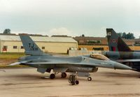 82-0938 @ EGVA - F-16A Falcon, callsign Falcon 1, of 613rd Tactical Fighter Squadron/401st Tactical Fight Wing at Torrejon AB on the flight-line at the 1987 Intnl Air Tattoo at RAF Fairford. - by Peter Nicholson