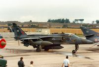 XZ108 @ EGVA - Jaguar GR.1A, callsign QTR 90B, of 2 Squadron on the flight-line at the 1987 Intnl Air Tattoo at RAF Fairford. - by Peter Nicholson