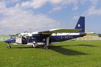 G-NESU @ FISHBURN - Pilatus Britten-Norman BN-2B-20 Islander at Fishburn Airfield in 2004. - by Malcolm Clarke