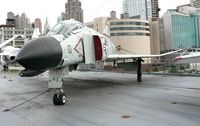 150628 - This aircraft started out as an F-4B but was converted to an F-4N.  Currently aboard the USS Intrepid, she is on loan from the National Museum of Naval Aviation. - by Daniel L. Berek
