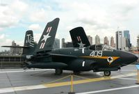 127074 - Nice Cold War fighter aboard the USS Intrepid - by Daniel L. Berek