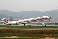 B-2256 @ ZGSZ - MD-90 - by Dawei Sun