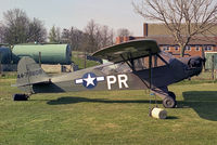 G-BHXY @ EGTC - Piper L-4H Grasshopper as USAF 44-79609. At Cranfield Airfield in 1988. - by Malcolm Clarke