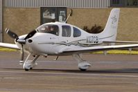 N107CB @ EGBJ - Cirrus SR22 at Staverton