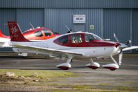 G-KOCO @ EGBJ - Cirrus SR22 at Staverton - by Terry Fletcher