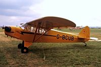 G-BCUB @ EGBG - Piper J-3C-65 Cub [13370] Leicester~G 08/07/1979. Seen at PFA Fly In Leicester in 1979 .Image from a slide. - by Ray Barber
