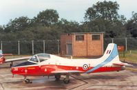 XW374 @ EGVA - Jet Provost T.5A, callsign Poacher, of the RAF College at Cranwell on the flight-line at the 1987 Intnl Air Tattoo at RAF Fairford. - by Peter Nicholson