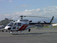 N635SB @ POC - Parked in eastside parking area - by Helicopterfriend