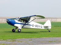 G-BSYG @ EGNG - Piper PA-12 Super Cruiser at Breighton Airfield, UK in 2006. - by Malcolm Clarke