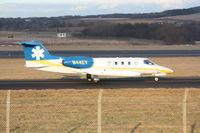 N44EV @ EGPK - Lear jet leaving Prestwick Airport - by Alistair Clark