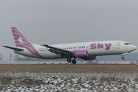 TC-SKF @ EDDR - about to touchdown