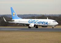 5B-DBV @ EGCC - Eurocypria Boeing 737-8Q8 (c/n 30654). - by vickersfour
