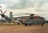 162 @ EGVA - Super Frelon of 32 Flotille French Aeronavale on display at the 1987 Intnl Air Tattoo at RAF Fairford. - by Peter Nicholson