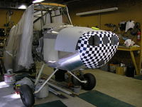 N6710C @ KVPC - aircraft in rebuild state, new nose bowl colors - by ken adams