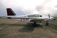 G-BJNZ @ EGTC - Piper PA-23-250 Aztec F at Cranfield Airport in 1994. - by Malcolm Clarke