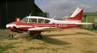 G-ASHH @ EGTC - Piper PA-23-250 Aztec at Cranfield Airport in 1988. - by Malcolm Clarke