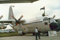 A97-159 @ EGVA - C-130E Hercules, callsign Ausy 282, of 37 Squadron Royal Australian Air Force on display at the 1987 Intnl Air Tattoo at RAF Fairford. - by Peter Nicholson