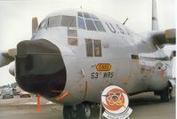 65-0985 @ EGVA - WC-130H Hercules, callsign Gull 38, of the 53rd Weather Research Squadron on display at the 1987 Intnl Air Tattoo at RAF Fairford. - by Peter Nicholson