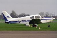 G-ODEN @ EGTC - Piper PA-28-161 Cadet at Cranfield in 1997. Awaiting the next pupil! - by Malcolm Clarke