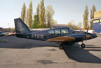 G-FOTO @ EGTC - Piper PA-23-250 Aztec F at Cranfield Airport in 1996. - by Malcolm Clarke