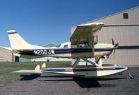 N206JW @ ANE - Cessna TU206G Turbo Stationair 6 on amphibious floats at Anoka County Airport, Blaine MN