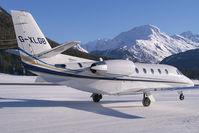 G-XLGB @ LSZS - London Executive Aviation Cessna 560XL Citation Excel