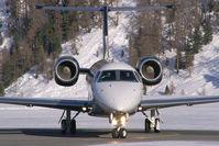 G-IRSH @ LSZS - Jet Options Embraer 135