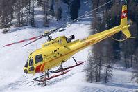 HB-ZIS @ LSZS - Heli Bernina Aerospatiale AS350