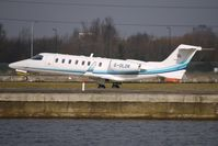 G-OLDK @ EGLC - Learjet 45 lifts off from London City Airport