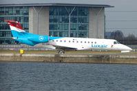 LX-LGK @ EGLC - Luxair Embaer 135 at London City