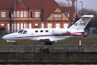 OE-FCB @ EGLC - Austrian Cessna 510 Mustang lands at London City Airport - by Terry Fletcher