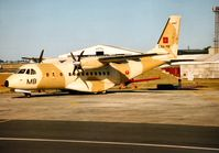 CNA-MB @ EGVA - Moroccan Air Force CN-235-100M from the 3rd Air Base on display at the 1995 Intnl Air Tattoo at RAF Fairford. - by Peter Nicholson